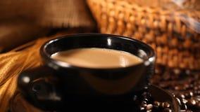 Koffie en brood stock footage