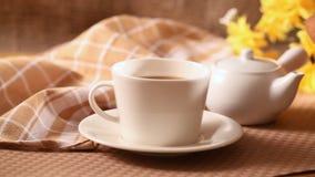 Koffie en brood stock videobeelden