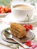 Koffie en cake Royalty-vrije Stock Foto's