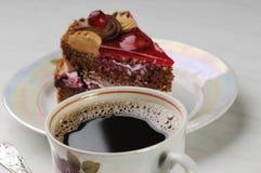 Koffie en cake Stock Fotografie