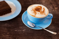 Koffie en cake Stock Foto