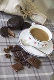 Koffie en chocoachtergrond 19 Stock Afbeeldingen