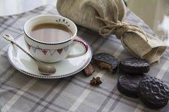 Koffie en chocoachtergrond 12 Royalty-vrije Stock Foto