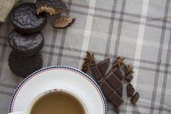 Koffie en chocoachtergrond 13 Royalty-vrije Stock Afbeeldingen