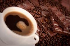 Koffie en chocolade Royalty-vrije Stock Foto