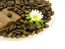 Koffie en chocolade Royalty-vrije Stock Foto's