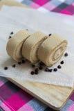 Koffie en chocoladebroodjescake Stock Afbeeldingen