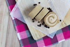 Koffie en chocoladebroodjescake Royalty-vrije Stock Afbeeldingen