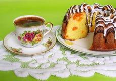 Koffie en desser Stock Fotografie