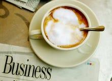 Koffie en document Stock Afbeelding