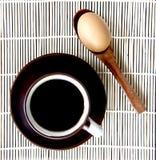 Koffie en eierenonderbreking Stock Afbeeldingen