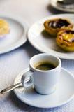 Koffie en gebakje Stock Foto