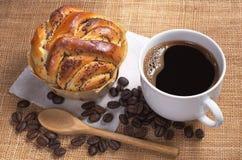 Koffie en Gebakjes stock afbeeldingen