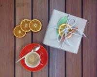Koffie en gift Royalty-vrije Stock Fotografie