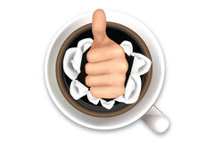 Koffie en hand Royalty-vrije Stock Afbeelding