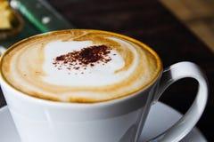 Koffie en kaastaart Royalty-vrije Stock Fotografie