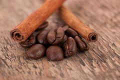 Koffie en kaneel Royalty-vrije Stock Fotografie