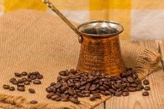 Koffie en ketel Royalty-vrije Stock Afbeeldingen