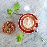Koffie en koekje stock afbeelding