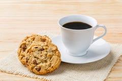 Koffie en koekje Royalty-vrije Stock Foto's