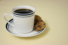 Koffie en koekjes Stock Foto