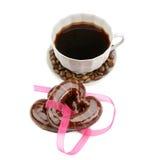 Koffie en koekjes Royalty-vrije Stock Foto's
