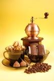 Koffie en koekjes Stock Afbeeldingen