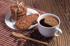 Koffie en koekjes Stock Afbeelding