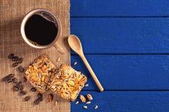 Koffie en koekjes royalty-vrije stock afbeeldingen
