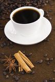 Koffie en kruid Stock Fotografie