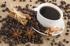 Koffie en kruid Royalty-vrije Stock Foto's