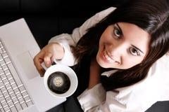 Koffie en Laptop royalty-vrije stock foto