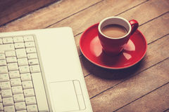 Koffie en laptop Royalty-vrije Stock Fotografie