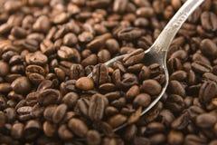Koffie en lepel Royalty-vrije Stock Afbeelding