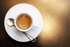 Koffie en lepel Stock Afbeeldingen