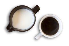 Koffie en melk Stock Afbeelding