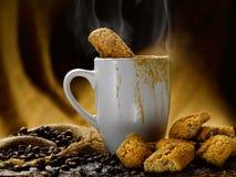 Koffie en melk Stock Afbeeldingen