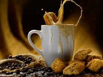 Koffie en melk Royalty-vrije Stock Afbeeldingen