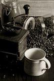 Koffie en molen Stock Foto