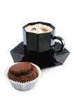 Koffie en muffin Stock Afbeeldingen