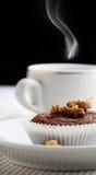 Koffie en muffin Stock Fotografie