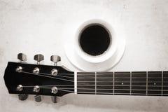 Koffie en muziek Stock Foto