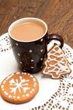 Koffie en peperkoekkoekjes Royalty-vrije Stock Afbeelding