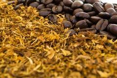 Koffie en sigaretten Stock Afbeelding