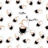 Koffie en sigaretten naadloos patroon Vector Illustratie