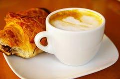 Koffie en snack royalty-vrije stock foto