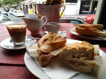 Koffie en snacks Stock Foto