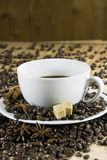 Koffie en suiker Stock Afbeelding