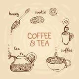 Koffie en thee Royalty-vrije Stock Afbeelding