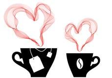 Koffie en thee, vector royalty-vrije illustratie